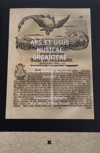 Ars et usus musicae organicae: Juhlakirja Olli Porthanille – Essays in Honour of Olli Porthan 11.12.2017.